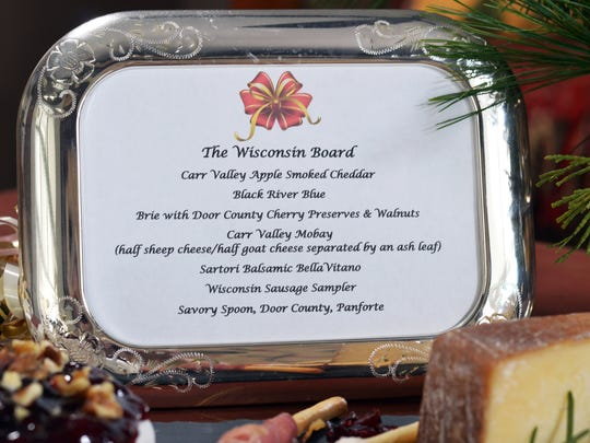 Framing the menu for each board enables guests to see