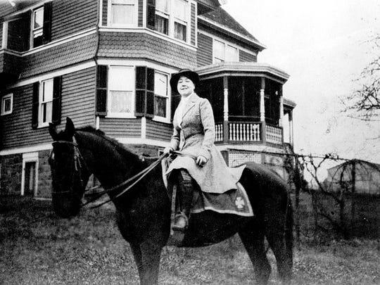 Alice outside her Lemoine Avenue home