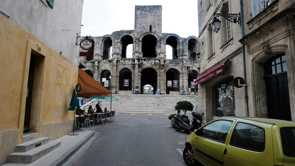 Roman arena in the middle of Arles.
