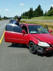Oregon State Police troopers are looking for witnesses to a single-vehicle crash on Highway 22.