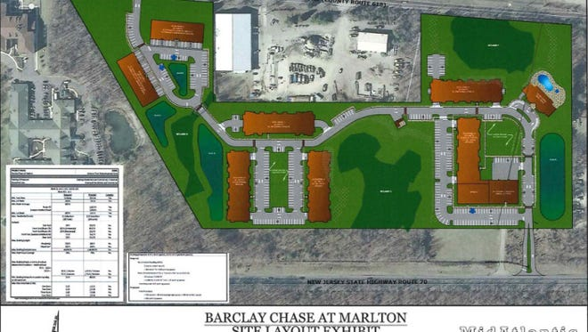 Barclay Chase at Marlton will have 264 luxury apartments and more than 6,000 square feet of retail space.