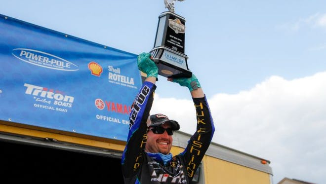 Ott DeFoe of Knoxville won the 2017 Bass Pro Shops Bassmaster Northern Open No. 3 in Dandridge, one of many tournaments sponsored by B.A.S.S. LLC.