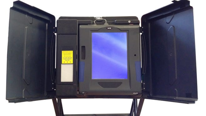 An electronic voting machine .