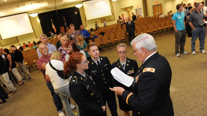 U.S. Service Academy Information Fair on Sept. 2 in Bowling Green, Ky.