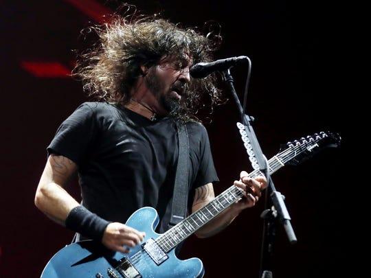 The Foo Fighters perform at Bridgestone Arena Friday