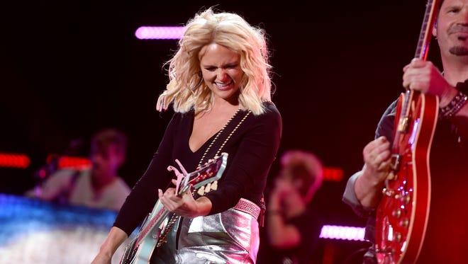 Miranda Lambert performs at the CMA Music Festival at Nissan Stadium in Nashville.