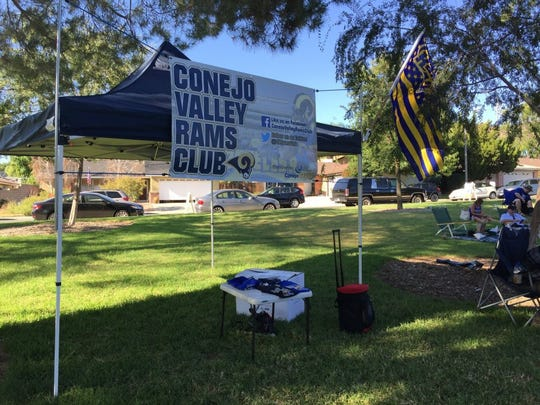 JOE CURLEY/STAR STAFF The Conejo Valley Rams Club is flying the flag for the Los Angeles Rams football team locally.