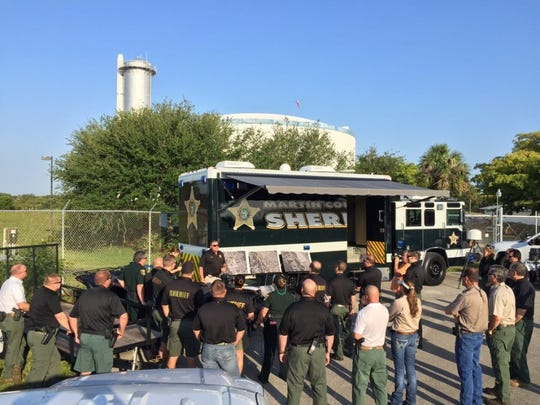 Martin County sheriff's officials search April 29,