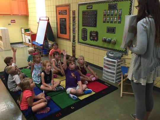 Students at a Oak Grove Homeschool Cooperative class