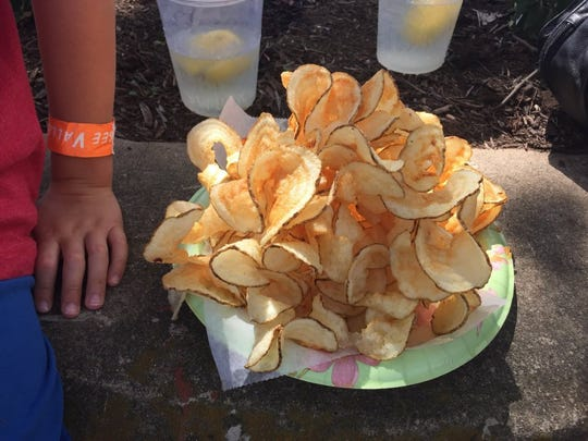 Ribbon fries are delicious with ketchup and can be found at the Tennessee Valley Fair.