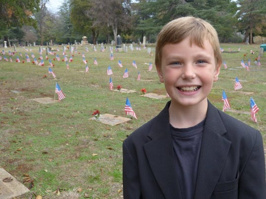 Preston Sharp poses in Redding Memorial Park off Continental