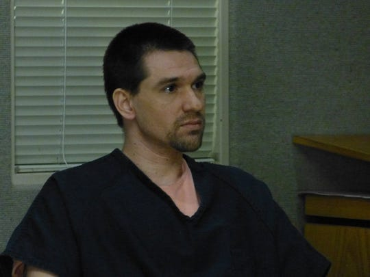 Joshua Edward Hoffman sits in a Shasta County courtroom