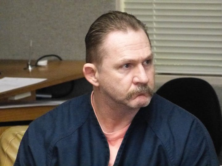 Jim Schultz/Record Searchlight Vernon Lee Simon Jr., shown Monday in Shasta County Superior Court, is scheduled to begin standing trial next month in connection with a fatal 2015 traffic wreck.