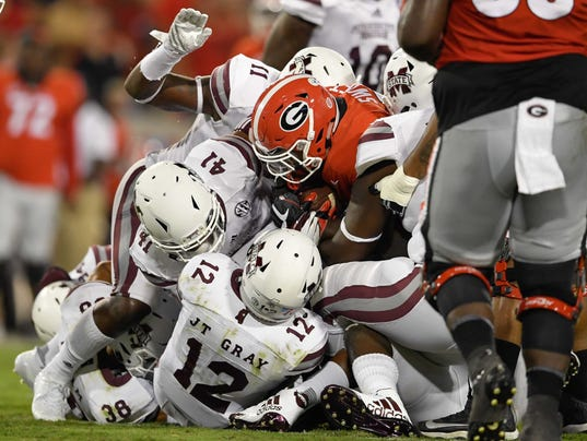 NCAA Football: Mississippi State at Georgia