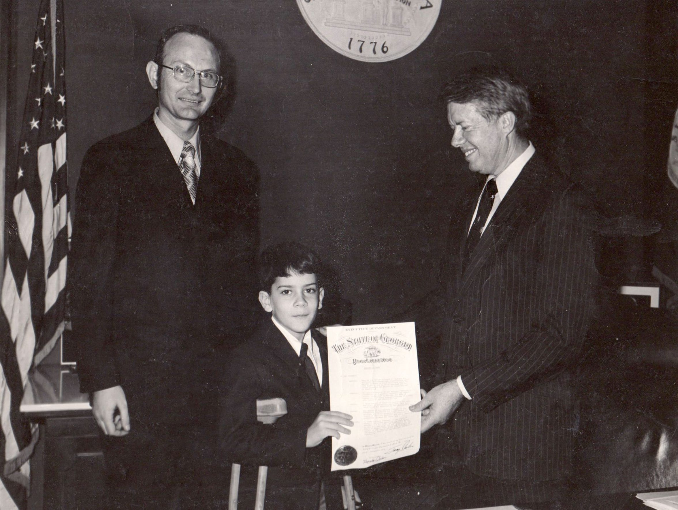In October 1971, Jim Reed, age 8, met then-Georgia