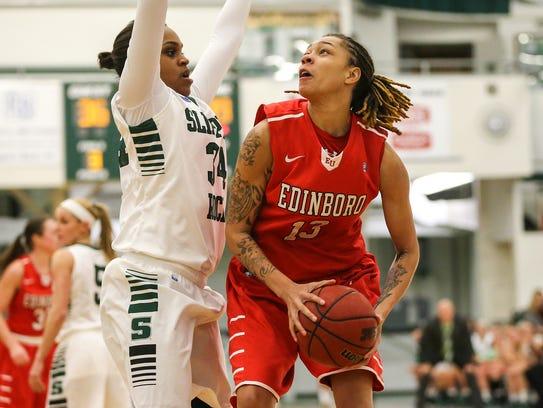 Aignee Freeland played  basketball at Edinboro University.
