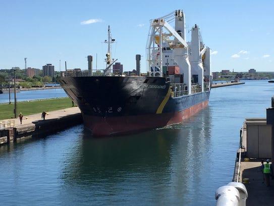 The Zelada Desgarnes, a cargo ship flying under the