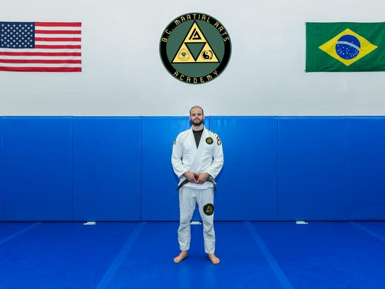 Tamdan McCrory, a professional MMA fighter runs B.C. Martial Arts Academy in Binghamton.