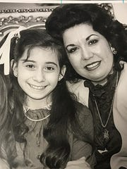 Delinda Muñiz (from left) and mother Abbie Piña photographed