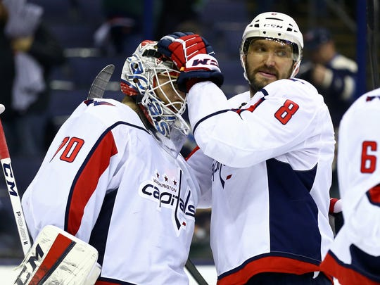 USP NHL: STANLEY CUP PLAYOFFS-WASHINGTON CAPITALS S HKN CBJ WSH USA OH
