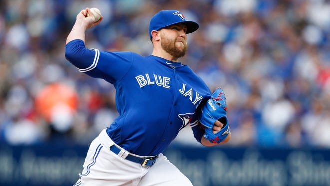 Drew Storen went 1-3 with a 6.21 ERA and three saves in 38 games for the Blue Jays.