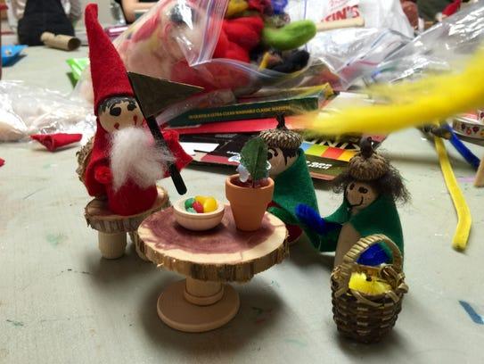 Gnomes, created by aspiring artists at Shenandoah Valley