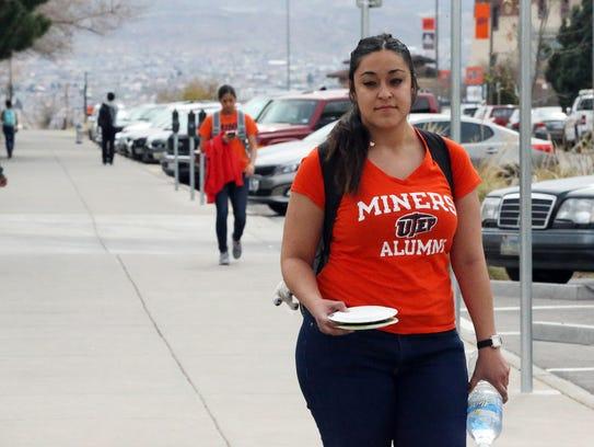 Astrid Portillo, a senior psychology student at UTEP,