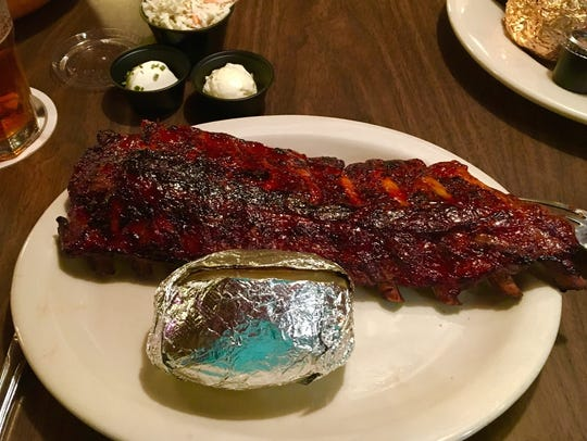 Spanky's ribs are oven-roasted, but still flavorful