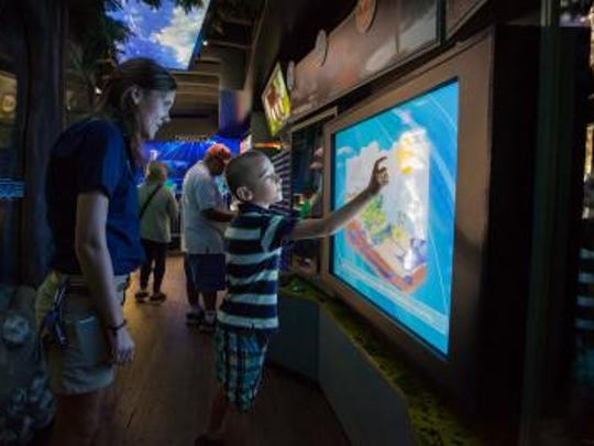 Visitors can explore water education and how water moves through their lives with the WaterVentures one-day exhibit.