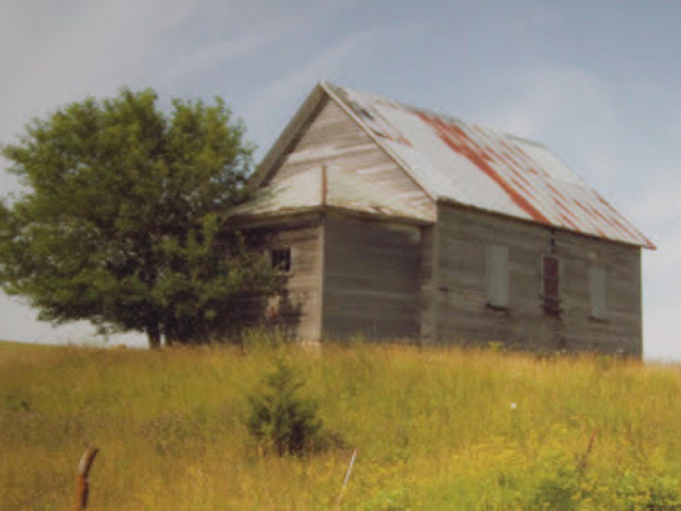 Pioneer School House before renovation.