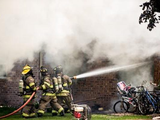 Photo 1 -- firefighter grievance