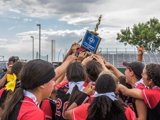 Centennial High won the first state softball championship