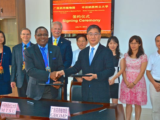 Mtsu Extends Botanical Research Pact In China