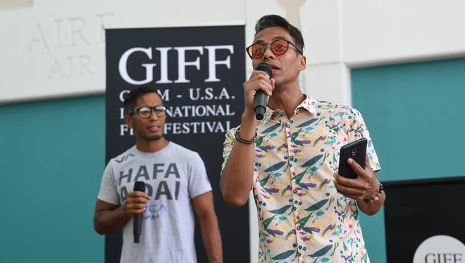 In this Jan. 13 file photo, Guam International Film Festival  co-founders Don Muña, left, and Kel Muña address questions regarding the GIFF/PDN Island-wide Youth Film Competition at the Guam Museum. The film festival will run Thursdays through Sundays, Oct.3-28, at the Guam Museum.