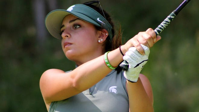 Allyson Geer of Brighton won the Golf Association of Michigan Women's Championship by two shots.