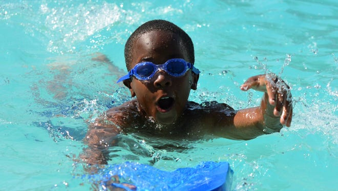 Children in Brookside Pointe Apartments  in Travelers Rest are getting onsite swimming lessons, courtesy of a YMCA swimming staffers and a grant.