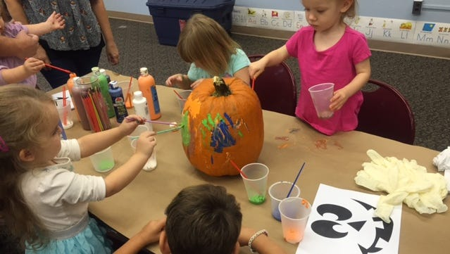 Cumberland County Library's Li'l Listeners participants had fun learning colors and painting pumpkins and listening to a Halloween story. They enjoyed story time and crafts as they try to reach a reading goal: 1000 Books Before Kindergarten.