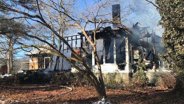One of the oldest homes in Ridgetop was destroyed by fire Friday morning.