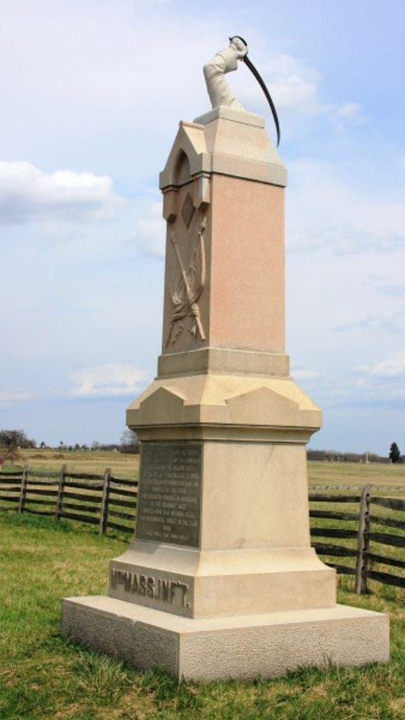 11th Massachusetts Monument on the second day's field at Gettysburg
