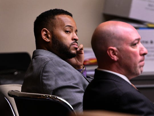 Norman Eugene Clark waits in court on the second day
