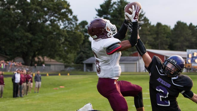 Union City's Jalen Boes leads the area in scoring and receiving yards.