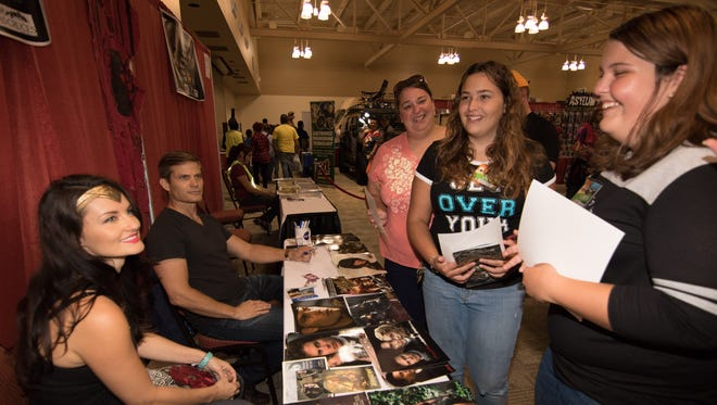 The Hobbs family are all smiles after getting an autograph from Casper Van Dien, best known for portraying Johnny Rico in the Starship Troopers trilogy and Wonder Woman at the 2016 Comic Con on September 10, 2016 at the Las Cruces Convention Center.