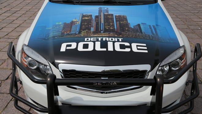 Detroit Police Department car shown on Thursday August 22, 2013. Ryan Garza / Detroit Free Press