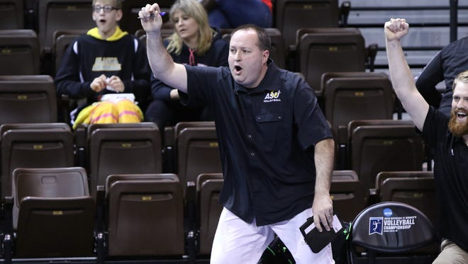 Angelo State University head volleyball coach Chuck Waddington's team is a perennial qualifer for the D-II national tourney.