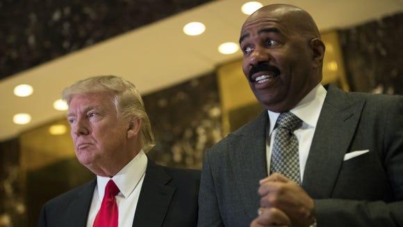 Donald Trump and Steve Harvey