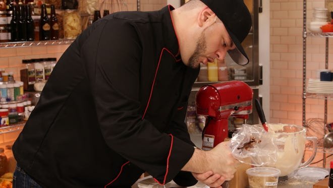 Anthony Damiano baking on Bakers vs. Fakers.
