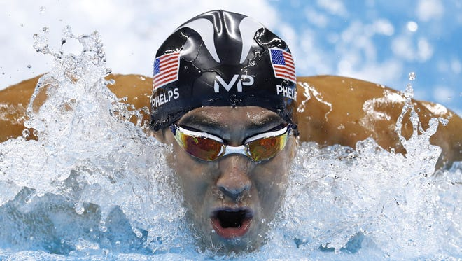 Michael Phelps competes in Rio de Janeiro on Aug. 13, 2016. That was tough, but what will it be like swimming against a shark?
