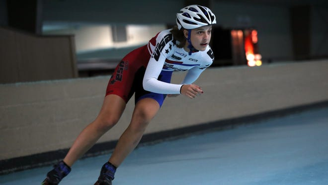 Local speed skater Katie Huffman is heading to China to compete in the 2017 World Roller Games Speed Skating Championships.