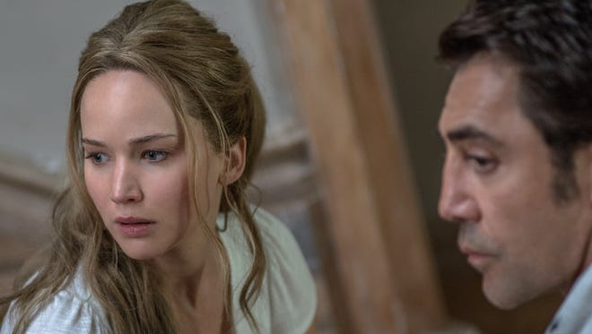 "Jennifer Lawrence and Javier Bardem star in ""mother!"""