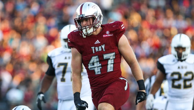 Hunter Reese, a junior from Wetumpka, has become a consistent presence this year for the Troy Trojans.